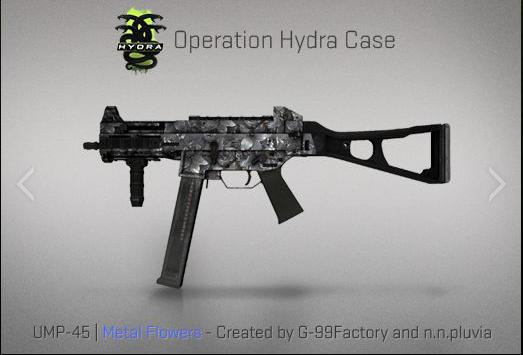 CS:GO Operation Hydra UMP-45 Design