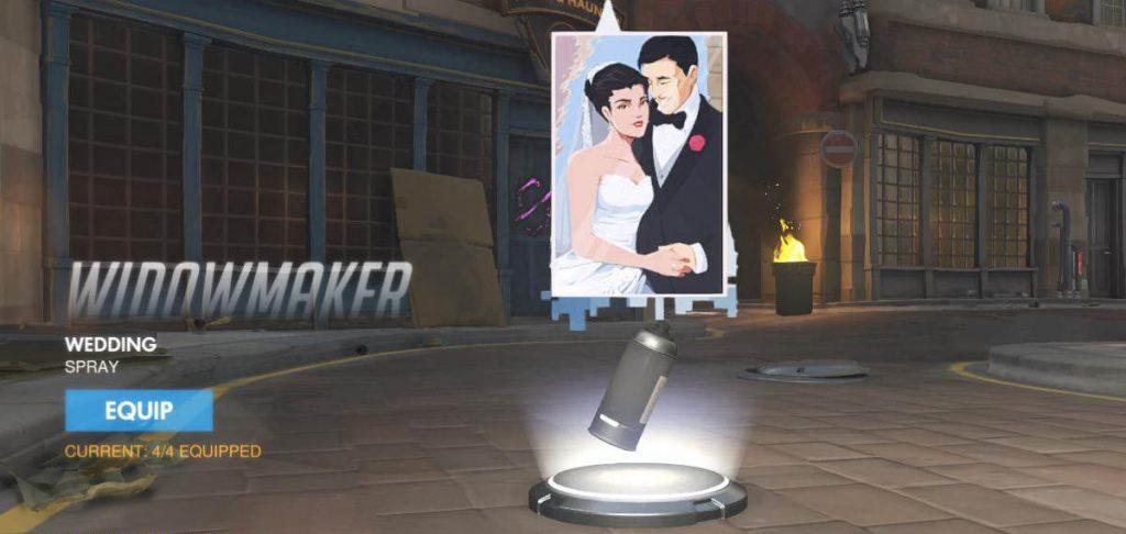 Overwatch Pro Skips Wedding Reception To Compete - Overwatch Widowmaker Spray