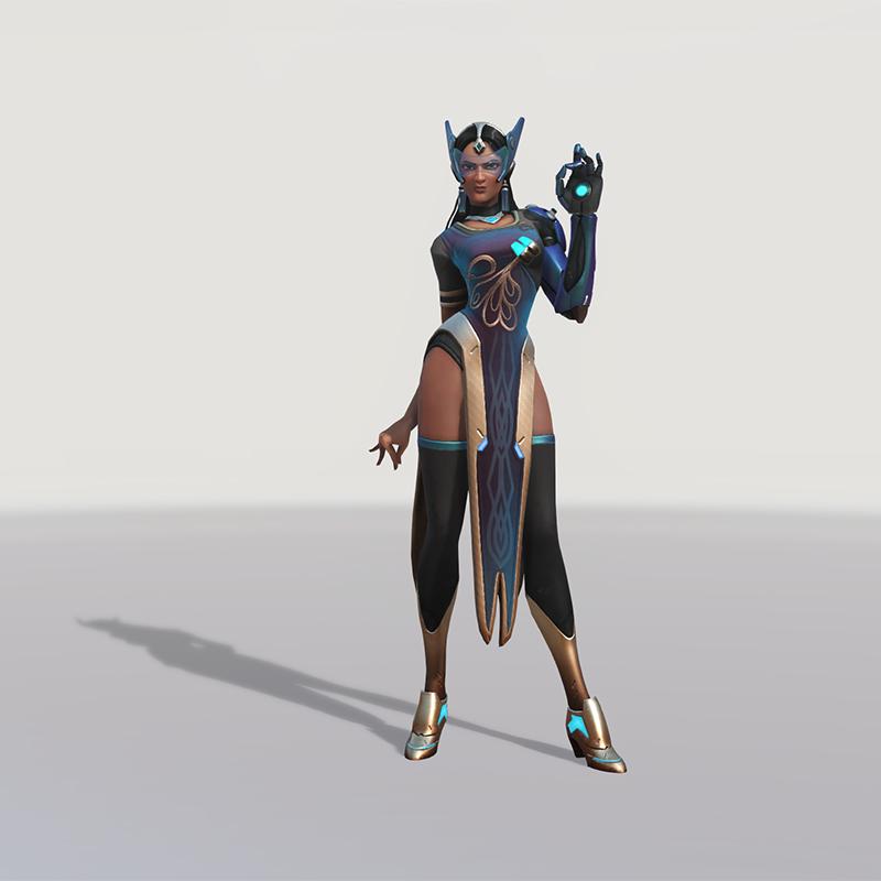 Blizzard World Update New Symmetra Peacock Skin