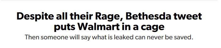 Rage 2 Leak Eurgamer Article Headline