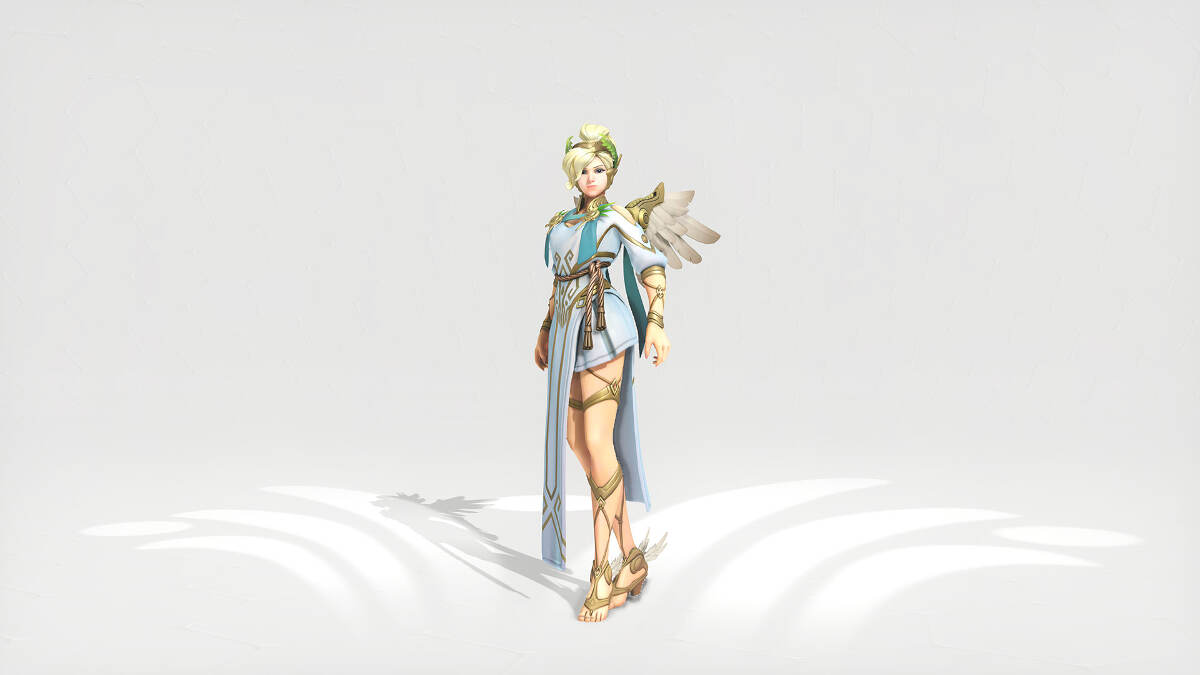 Overwatch Summer Games 2017 Mercy Winged Victory Skin