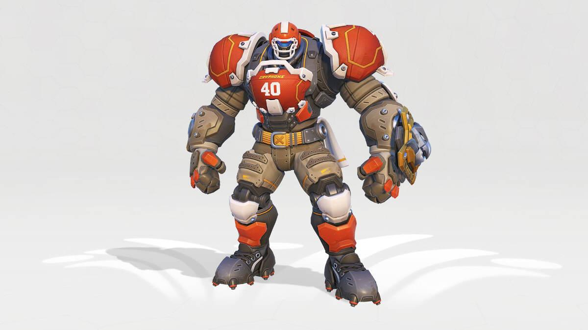 Overwatch Summer Games 2018 Reinhardt Gridironhardt Skin
