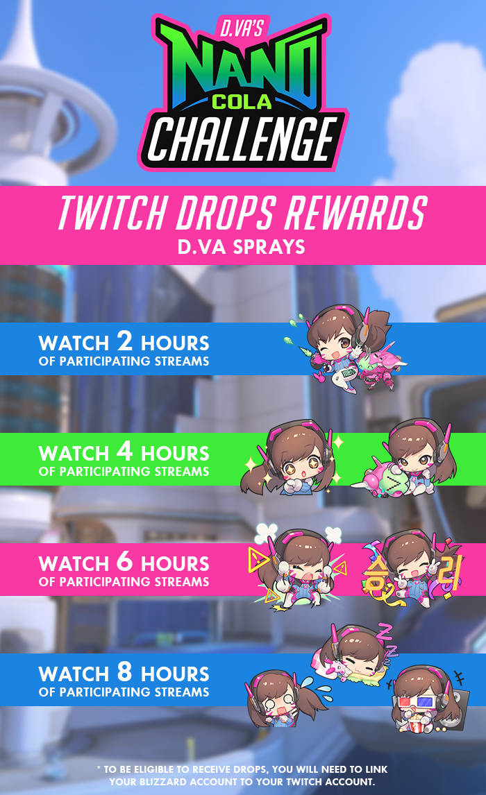 D.Va's Nano Cola Challenge Rewards Twitch Drops